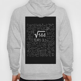 12 Years Old Square Root of 144 - 12th Birthday Gift Hoody