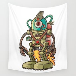 Robot USSR Wall Tapestry