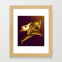 spacesuit hero flying Framed Art Print