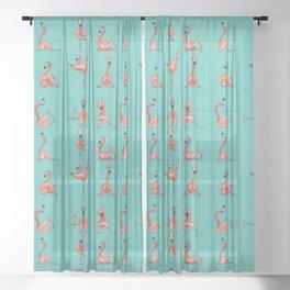 Flamingo Yoga Sheer Curtain