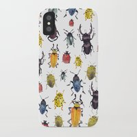 bugs iPhone & iPod Cases featuring Bugs by Marina Eiro