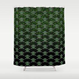 Hacker Skull Crossbones (pattern version) Shower Curtain