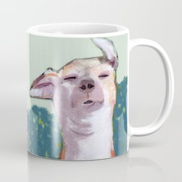 Dog in Wind Coffee Mug