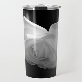 Black & White Rose Travel Mug