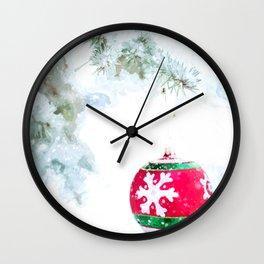 Christmas Ornament Wall Clock