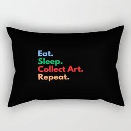 Eat. Sleep. Collect Art. Repeat. Rectangular Pillow