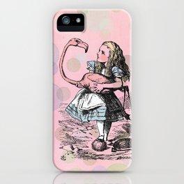 Alice plays Croquet iPhone Case