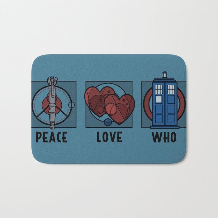 Peace, Love, Who Bath Mat