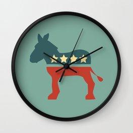 Democrats Donkey  Wall Clock