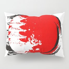 Japanese Temple at the Sun Pillow Sham