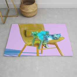 animals in chairs #12 Cats Rug