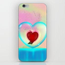 heart in a bubble iPhone Skin