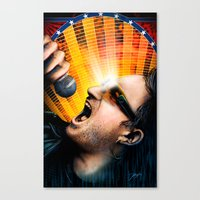 u2 Canvas Prints featuring Bono from U2 by Storm Media