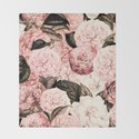 Vintage & Shabby Chic Pink Floral camellia flowers watercolor pattern by vintage_love