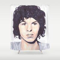 luke hemmings Shower Curtains featuring Luke by Daniela Herodesová