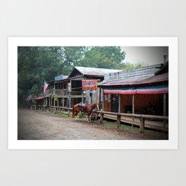 One Horse Town Art Print