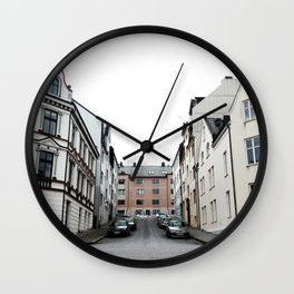 Streets of Alesund Wall Clock