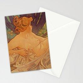 DAWN by Alphonse Mucha Stationery Cards