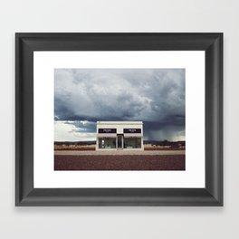 Summer storm | Marfa, Texas Framed Art Print