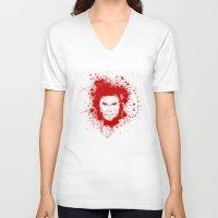 dexter V-neck T-shirts featuring Dexter by David