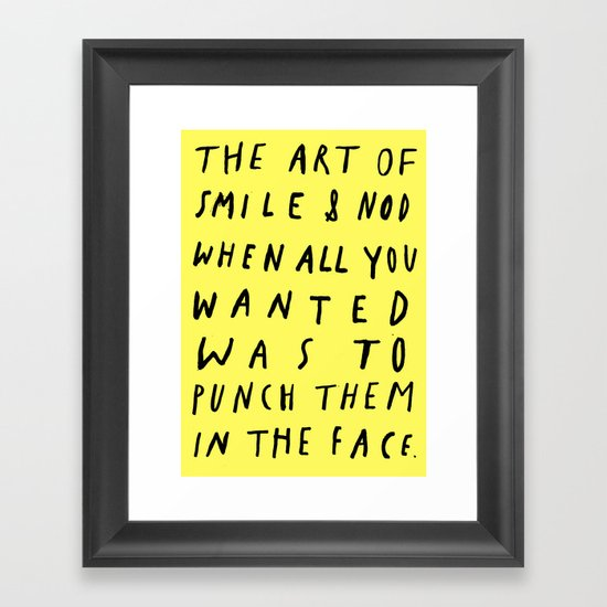 THE ART OF Framed Art Print