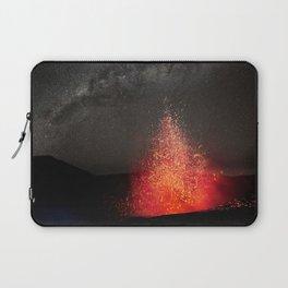 Kilauea Volcano Eruption Under The Stars. Laptop Sleeve