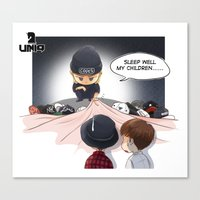kpop Canvas Prints featuring Kpop UNIQ Wang Yibo  BD-03 by Rei Lydia