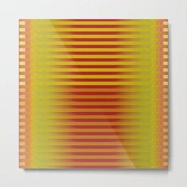 Yellow Orange Red Generative Stripes Metal Print