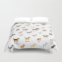 Lots of Cute Doggos - With Names Duvet Cover