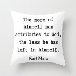 50    Karl Marx Quotes   190817 Throw Pillow
