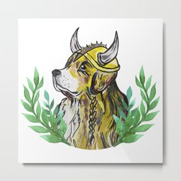 Viking Retriever Metal Print