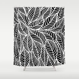 Leaves inverse Shower Curtain