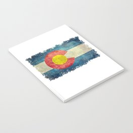 Colorado State flag, Vintage retro style Notebook