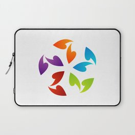 Abstract flora- colorful flower Laptop Sleeve