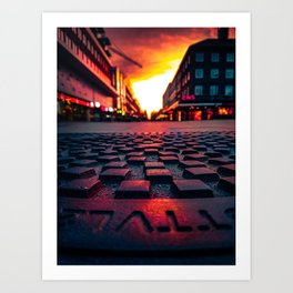 Bloodred Streetview Art Print