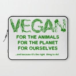 Why Vegan? Laptop Sleeve