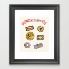 Biscuits for teatime Framed Art Print