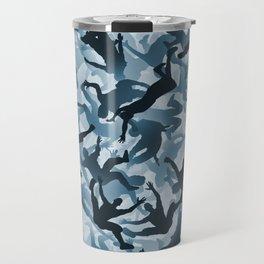 Falling humans camouflage Travel Mug