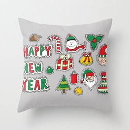 My Christmas Theme (: Throw Pillow