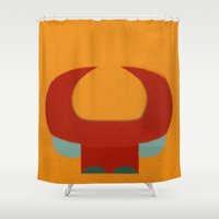brasil Shower Curtains featuring Garantido (Parintins - Brasil) by Fernando Vieira