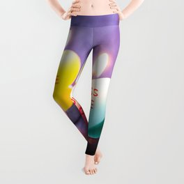 Valentines Candles Photography Print Leggings