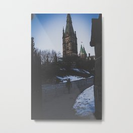 The Long Road to the Capital Metal Print