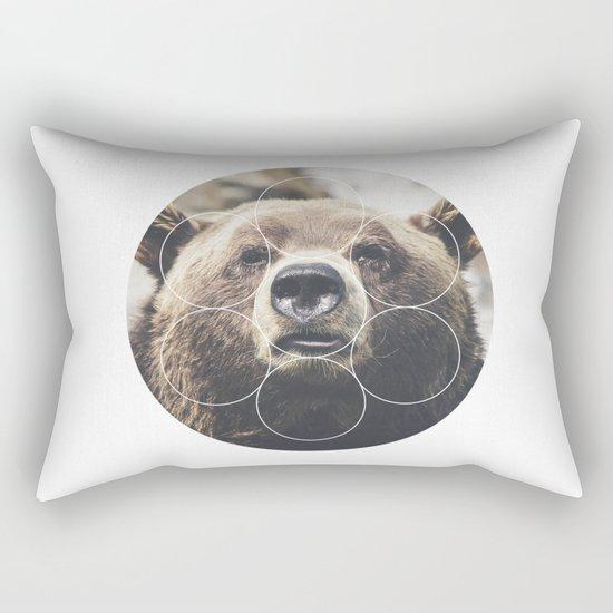 Big Bear Buddy - Geometric Photography Rectangular Pillow
