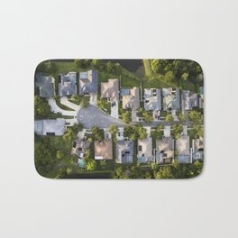 Somewhere Down South  |  Drone Photograpy Bath Mat