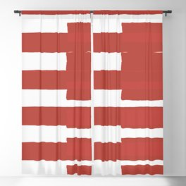 Big Stripes In Red Blackout Curtain