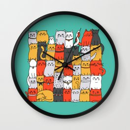 The Glaring - New Yorker Palette Wall Clock