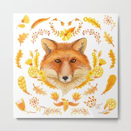 Autumn Fox Metal Print