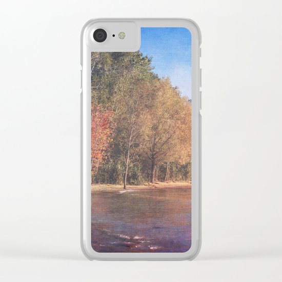Somewhere There's Peace Clear iPhone Case