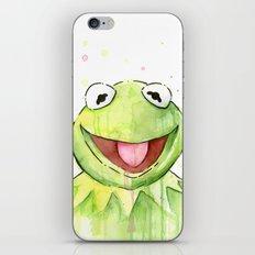 Frog Kermit Portrait iPhone & iPod Skin