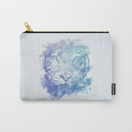 Abstract Watercolor Tiger Portrait / Face Carry-All Pouch